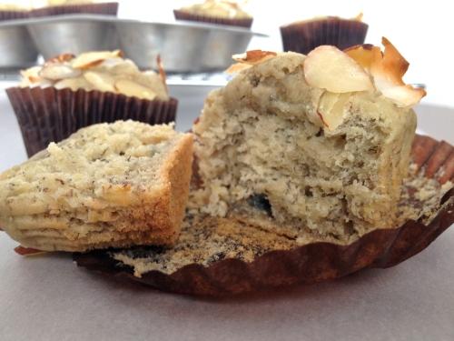 Honey Banana Blueberry Muffins