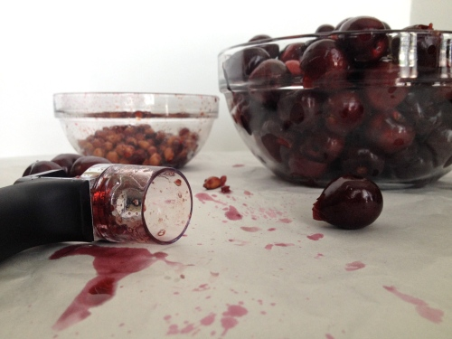 Cherry Pitting with an OXO Cherry Pitter