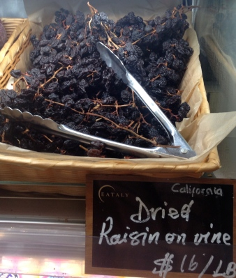 Dried Raisins on the Vine